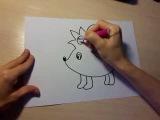 Нарисовать ежика