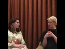 Миа и Энн Facebook Live QA об «Алисе в Зазеркалье»