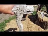 Трость посох Дракон своими руками,резьба по дереву. Cane Staff Dragon, wood carving