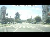 Авария в Ростове-на-Дону 24.06.2016 на улице Королева с участием 5 транспортных средств