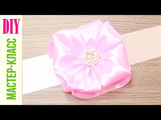 Красивый БАНТ из Ленты Своими Руками Бант на Выписку DIY Ribbon Bow NataliDoma