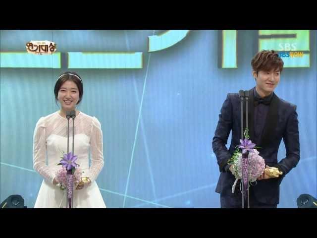 SBS 2013연기대상 베스트 커플상 이민호 박신혜