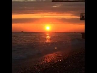 Закат. Черное море. Красота. Лазаревское.
