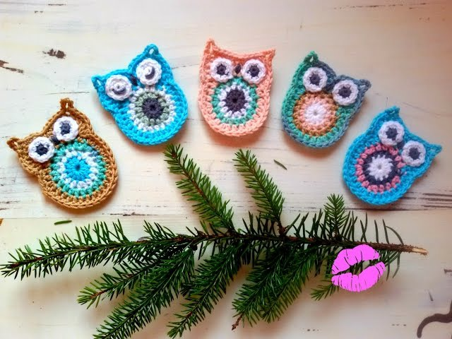 Сова крючкомOwl crochetВязание крючком для начинающих