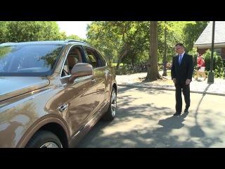2016 Bentley Bentayga внедорожник - Нью-Йорк Центральный парк Видео Новости Пакет - Нью-Йорк дебют