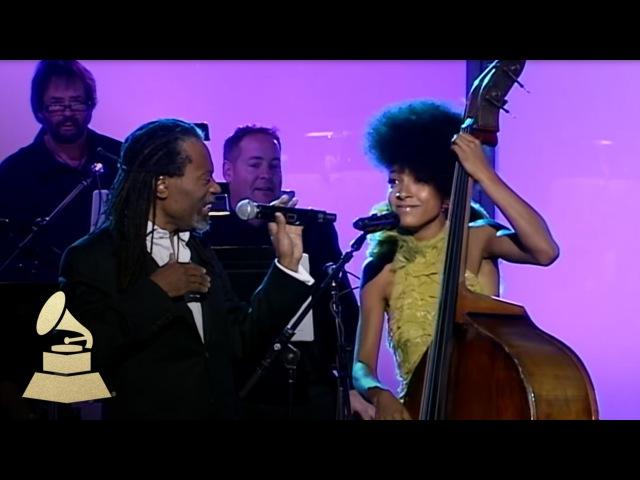 Bobby McFerrin Esperanza Spalding jam at the 53rd GRAMMY Pre-Tel | GRAMMYs