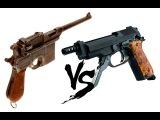 Пистолет Маузер К96 (Mauser C96) против Беретты 93Р (Beretta 93R)