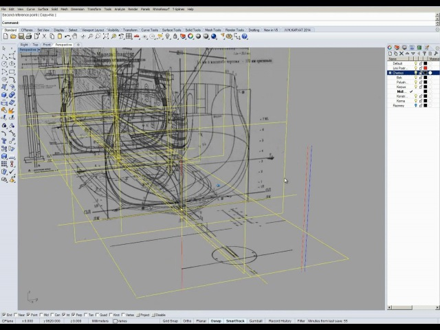 Гото Предестинация - 4. Слои, расположение и корректировка чертежей в Rhino 5.0