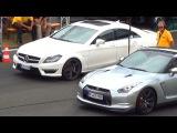 Mercedes CLS 63 AMG vs Nissan GTR R35 14 Mile Drag Race Viertelmeile Rennen Acceleration c218
