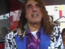 Tiny Tim backstage at the Festa Italiana