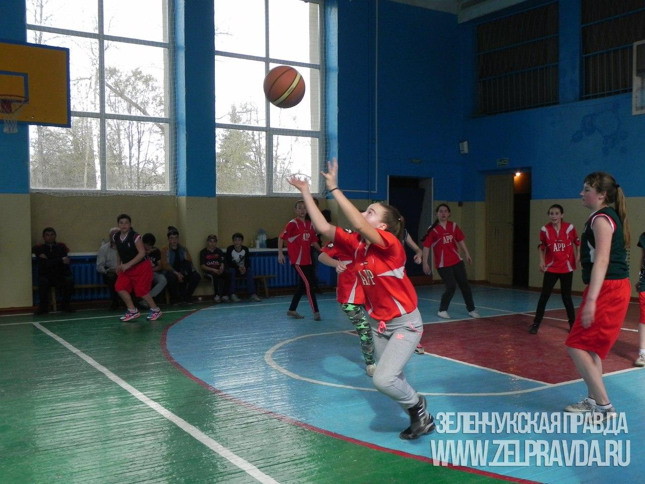 В станице Зеленчукской прошли зональные соревнования по баскетболу