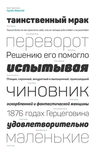 Шрифт Panton бесплатно