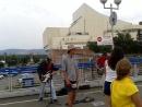 Ребята играют БГ на вантовом мосту