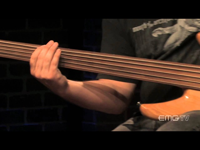 Joe Lester of Intronaut plays fretless bass on Past Tense for EMGtv