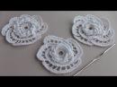 Как вязать цветок- розочку крючком с витыми столбиками. УРОКИ ВЯЗАНИЯ. Crochet Rose.