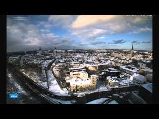 Таллинн с высоты красив Зимнее утро после военного парада героев NATO у Финского залива 27.02.2016