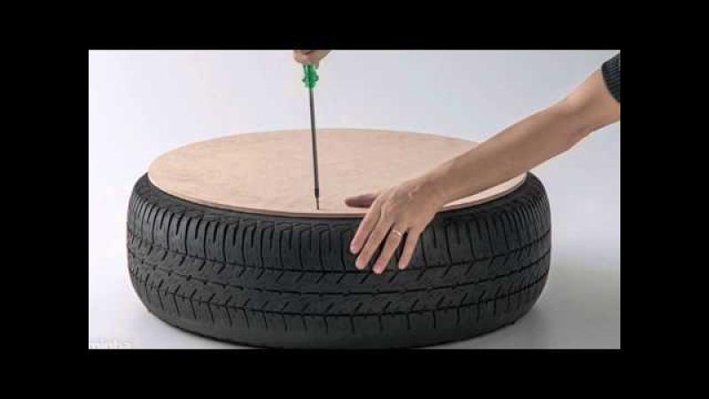 Como hacer un sillón rústico con un neumático usado