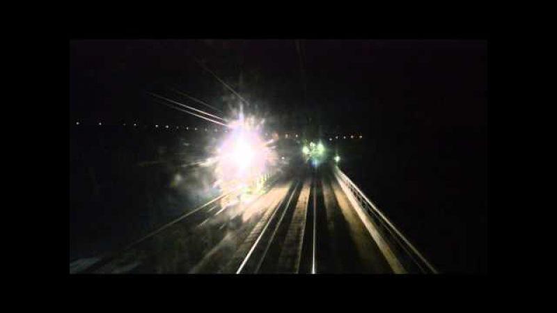 Ночная поездка от Сартаковского моста до рзд.9км