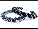 DIY Kumihimo blacelet with beads / Браслет Кумихимо с бисером из 8 нитей своими руками