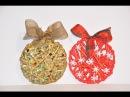 Bombka pleciona z bibuły. Christmas balls made of crepe paper DIY