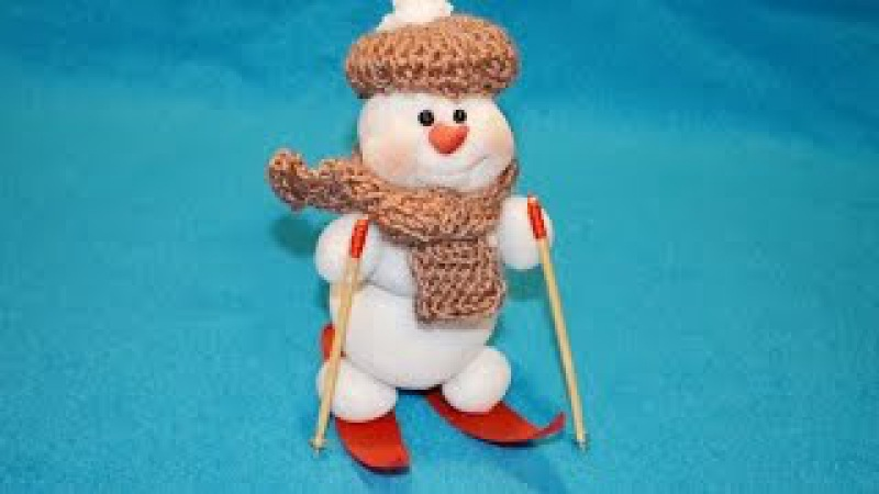Снеговик своими руками Лыжник ❀ DIY Snowman Skier