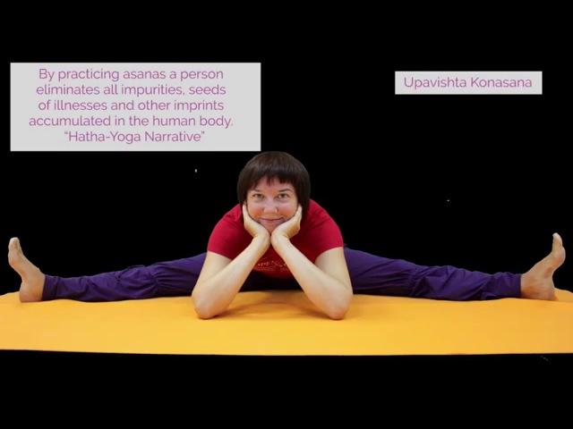 Video lessons of Openyoga Upavishta Konasana