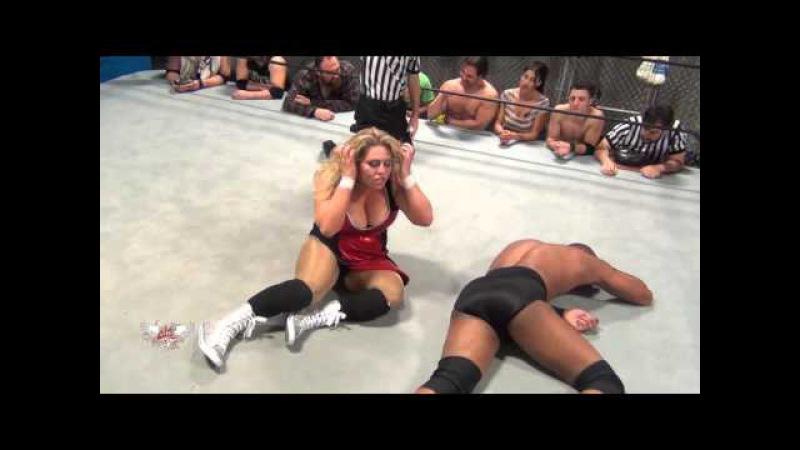 Intergender Match Brooke Danielle v Darius Carter II W.O.W Unreleased Vol 11