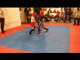 Кирюша на соревнованиях по тайскому боксу