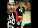 Puncher и Юрон на матче.Баскетбол Россия-Болгария