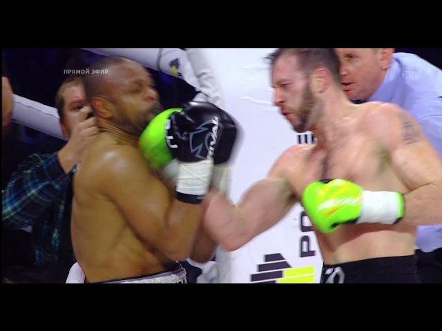 Рой Джонс - Энцо Маккаринелли Нокаут (4-й раунд) Бокс 2015 HD