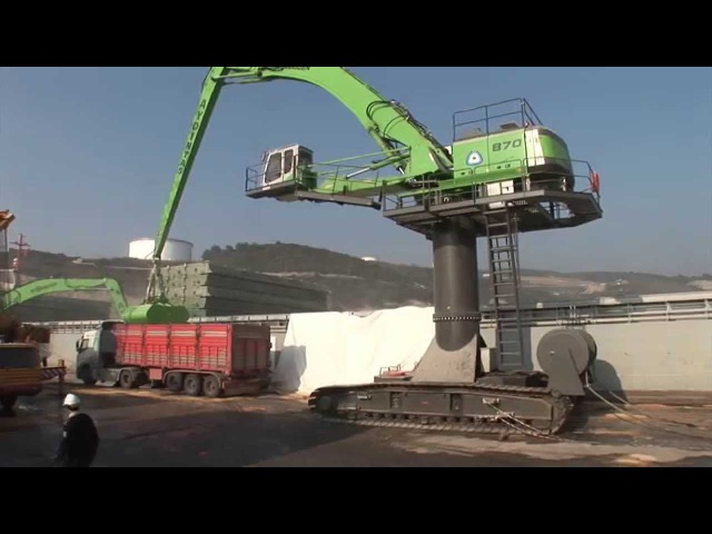 SENNEBOGEN - Port Handling 870 Crawler Material Handler Electro loading trucks in Turkey
