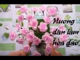 Cách ghép hoa thành cây hoa đào chơi tết đơn giản   by Dzung Mac