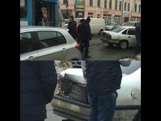 ДТП на ул. Полтавский Шлях. Водитель Трамвая врезался в машину и скрылся с места происшествия!