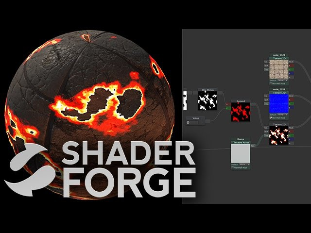Shader Forge - Gradients (Part 3, Color Ramps Dissolve)
