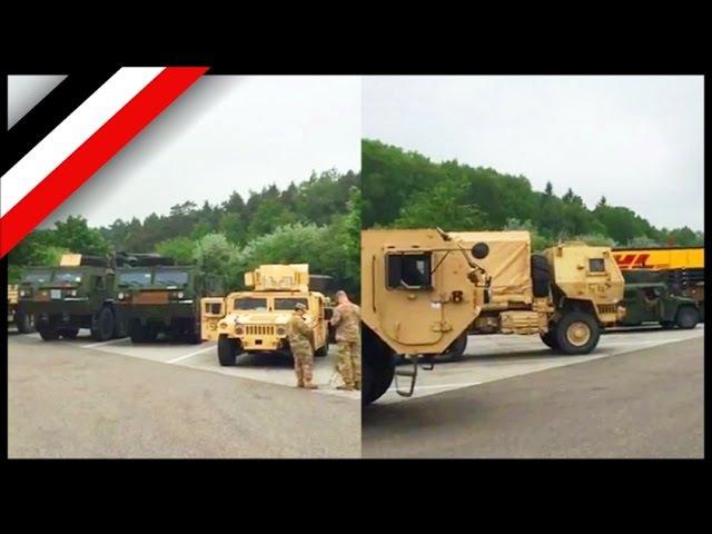 US-Militär nach Unfall auf der A4 Raststätte Richtung Dresden! 25.05.2016