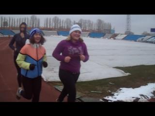 ГТОльятти в морозную погоду бег на 2-3км!!!