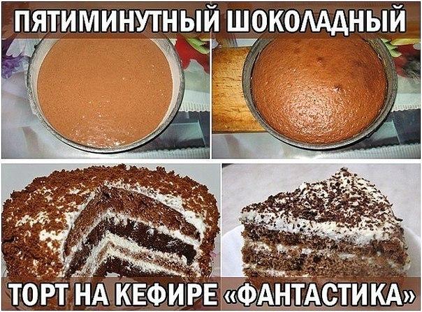 Шоколадный торт на кефире рецепт с фото