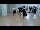 Начинаем учить Танго в группе латинского танца для девушек.