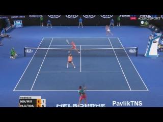 Martina Hingis Sania Mirza vs Andrea Hlavackova Lucie Hradecka - Australian Open 2016