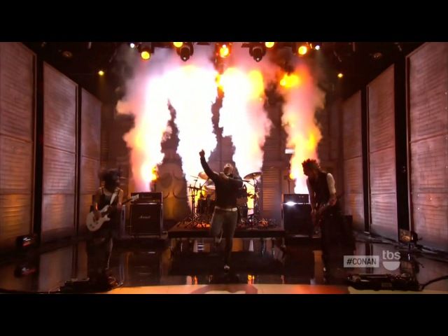 Skillet - Rise (Live on Conan O'Brien Show) HD 1080p