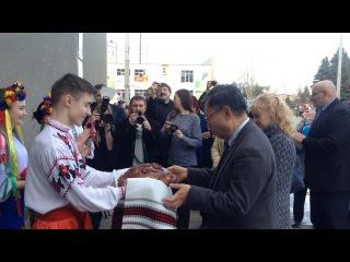 Посол Японии в Украине Шигеки Суми с визитом в Дружковке