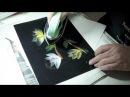 Encaustic: painting magnolias
