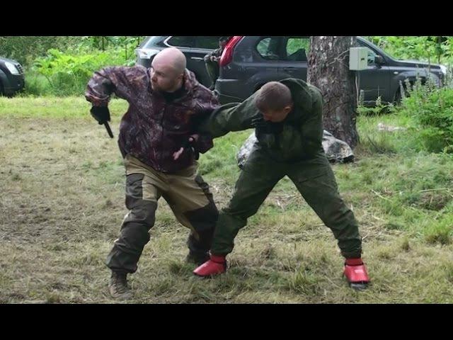 Ножевой бой С.П.А.С., реальные техники применения ножа, часть 2 (knife fighting)