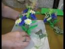 МК подхват для штор на магнитах с цветами из фоамирана