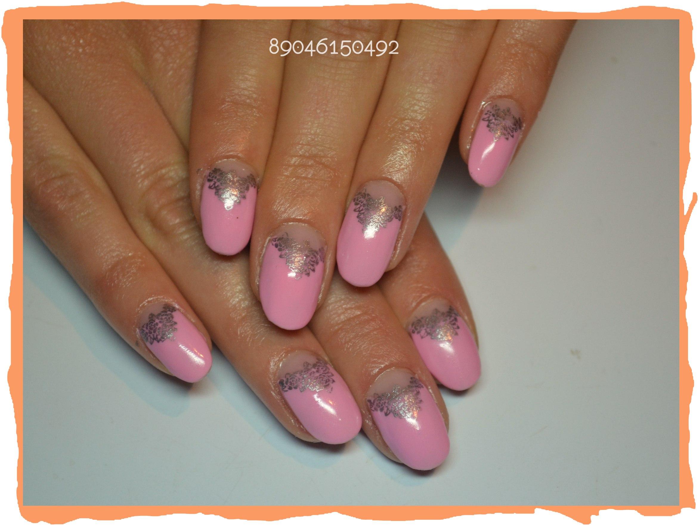 Дизайн ногтей фото растяжка