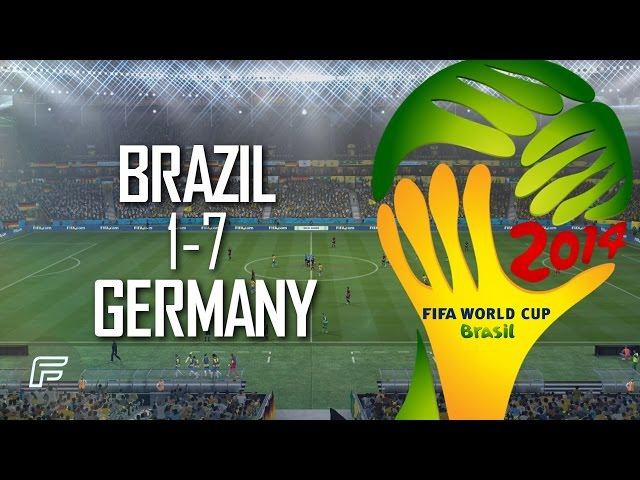 Brazil 1 7 Germany Match Remade 2014 FIFA World Cup Brazil