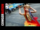 NYC GAY PRIDE PARADE: 8 year old boy struts and twirls for homosexuality.
