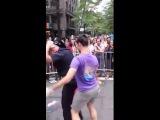 NYPD Cop Dances at Gay Pride Parade