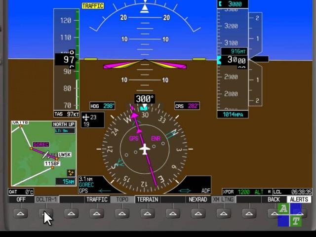 Краткий обзор PFD Garmin G1000 Cessna 172S