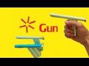 как сделать бумага  пистолет который стреляет - 6 пуль